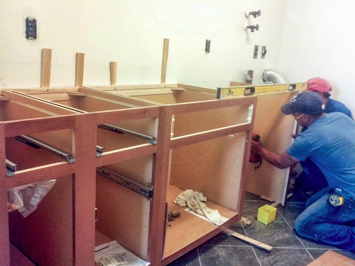 Kitchen Renovation In Progress white plains kitchen renovation - gustavo lojano general