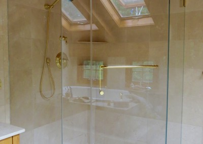 Croton Luxury Master Bathroom Renovation Project-shower view
